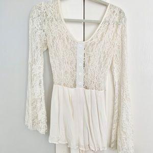 Showpo White Lace Romper